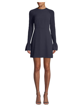 Victoria Smocked Bell Sleeve Cocktail Dress by Likely