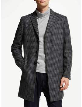 Kin Puppytooth Epsom Coat, Grey/Blue by Kin