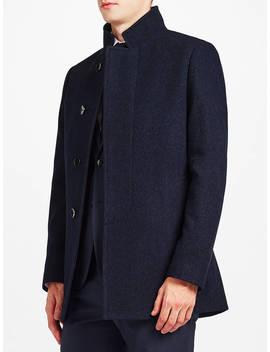 Kin Car Coat, Blue Marl by Kin