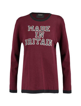 Crimson Slogan Jumper by Markus Lupfer
