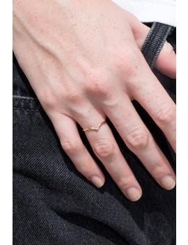 gold-chevron-ring by brandy-melville