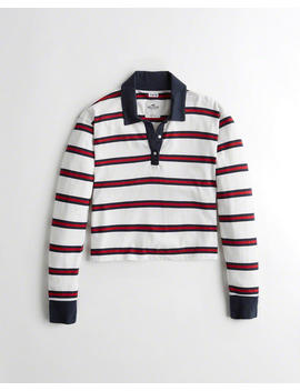 Crop Boyfriend Polo by Hollister