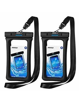 "Mpow Waterproof Phone Pouch Floating, Ipx8 Universal Waterproof Case Underwater Dry Bag Compatible For I Phone X/8/8plus/7/7plus/6s/6/6s Plus Galaxy S9/S8 Google Pixel Htc Up To 6.0"" (Black) by Mpow"