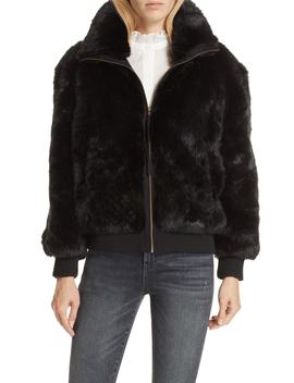 Faux Fur Bomber Jacket by Apiece Apart