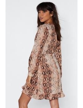 Snake That Wrap Dress by Nasty Gal