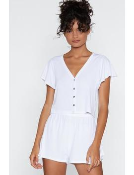 Sleep In Top And Ruffle Shorts Lounge Set by Nasty Gal