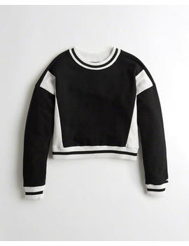 Colorblock Crewneck Sweatshirt by Hollister