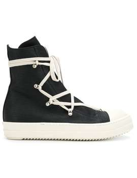 Rick Owens Drkshd Wlace Up Hi Topshome Men Rick Owens Drkshdw Shoes Hi Tops by Rick Owens Drkshdw