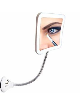 Sunplus Trade Led Magnifying Makeup Mirror Lighted Vanity Bathroom Square Mirror With 360 Degree Swivel Rotation, Flexible Gooseneck, And Locking Suction by Sunplustrade