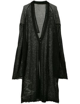 Yohji Yamamotosemi Sheer Cardiganhome Men Yohji Yamamoto Clothing Cardigans by Yohji Yamamoto