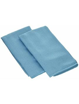 Wine Enthusiast Microfiber Wine Glass Towels, Blue, Set Of 4 by Wine Enthusiast