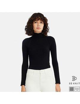 Women Uniqlo U 3 D Extra Fine Merino Ribbed High Neck Sweater by Uniqlo