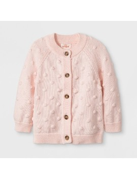 Baby Girls' Long Sleeve Raglan Sweater   Cat & Jack™ Blush by Cat & Jack™