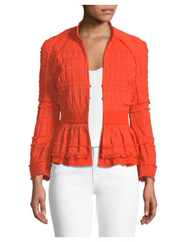 Ruched Peplum Jacket by Natori