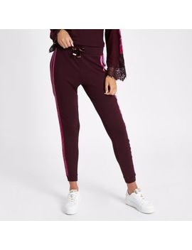 Red Tape Side Joggers by River Island