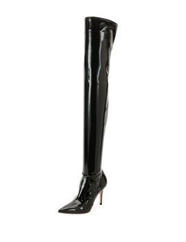 Shiny Vinyl Over The Knee Boots by Gianvito Rossi