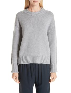 Rib Trim Cashmere Sweater by Mansur Gavriel
