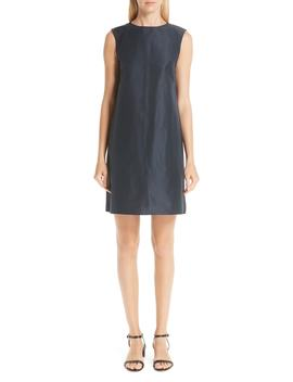 Cotton & Silk Taffeta Shift Dress by Mansur Gavriel