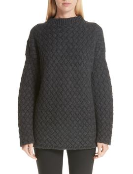 Oversized Braided Cashmere Sweater by Mansur Gavriel