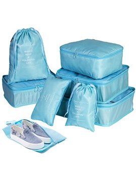 Packing Cube Set Packing Bags   8 Set Compression Packing Cubes Waterproof Bags With Shoes Bag by L&N Always