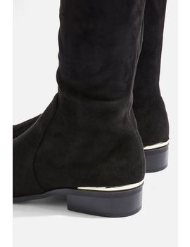 Beau High Leg Flat Boots by Topshop