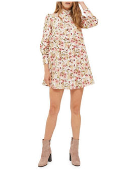 Floral Printed Shirtdress by Topshop
