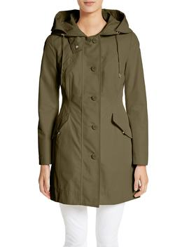 Audrey Water Resistant Hooded Raincoat by Moncler