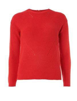 petite-coral-high-neck-jumper by dorothy-perkins