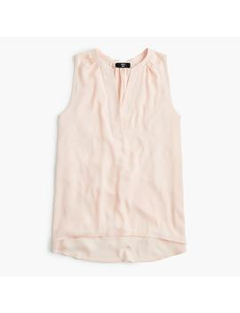 Petite Sleeveless Open V Neck Top by J.Crew