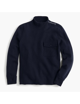 Wallace & Barnes Felted Merino Mock Neck Pullover by J.Crew