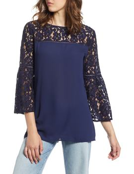 Lace Bell Sleeve Top by Halogen®