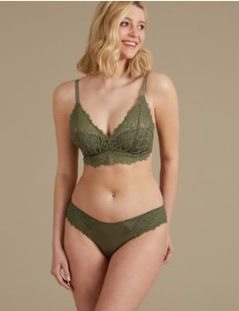 Lace Set With Padded Plunge A E by Marks & Spencer