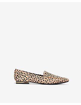 Cheetah Lennox Loafer Flat by Express