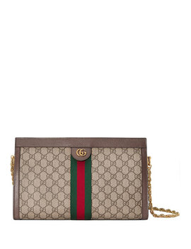 Linea Dragoni Medium Gg Supreme Canvas Chain Shoulder Bag by Gucci