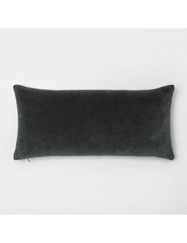 Velvet Exposed Zipper Throw Pillow   Project 62™ by Shop This Collection