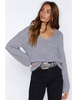 You Had Knit Coming V Neck Sweater by Nasty Gal