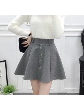 New Arrival 2018 Autumn Winter Women Skirt Fashion Beaded Warm Hairy Bottom Skirt College Style Safety Skirt Shorts by Lukaxsikax