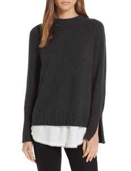 Strand Layered Wool Cashmere Sweater by Brochu Walker