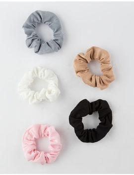 Full Tilt 5 Pack Textured Scrunchies by Full Tilt