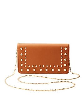 Faux Pearl & Studded Clutch by Charlotte Russe