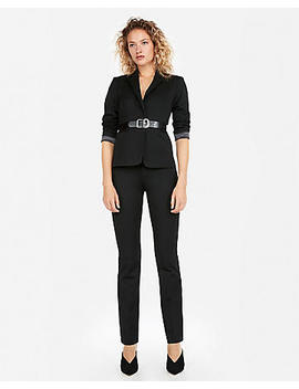 Black Barely Boot Columnist Pant Suit by Express