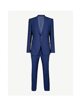 Tailored Fit Wool Suit by Boss