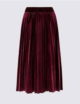 Curve Pleated Skirt by Marks & Spencer