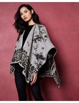 The Orient Woven Cape Scarf by Ted Baker