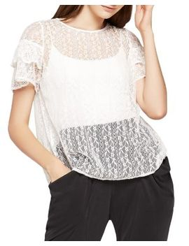 Flyaway Back Lace Top by Bcb Generation