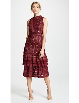 Lace Mock Neck Midi Dress by Endless Rose