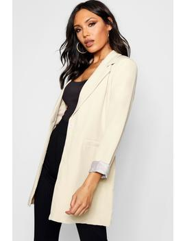 Single Button Longline Blazer by Boohoo