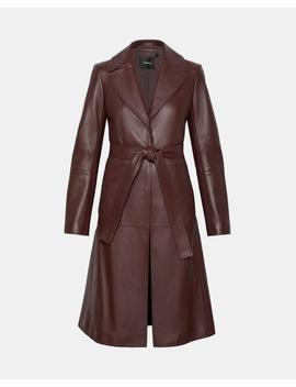 Leather Cinched Trench by Theory