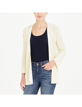 Cotton Open Front Sweater by J.Crew