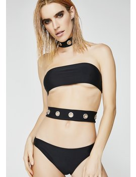 Eyelet Choker Cutout Swimsuit by Jaded London